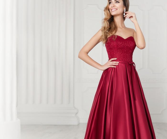 340b2c302bc Модные вечерние платья красного цвета