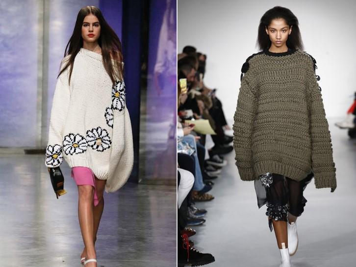 Вязаные платья: модные тренды сезона 2018-2019