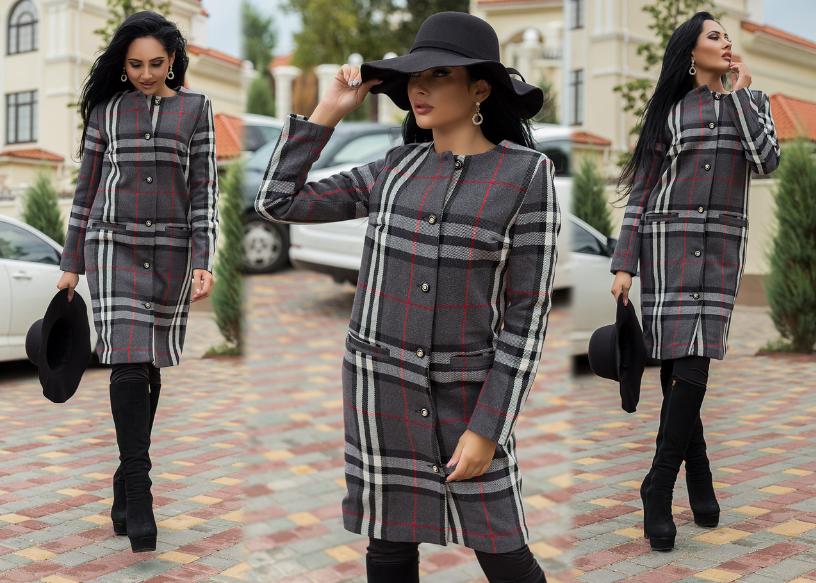 Модные женские пальто в клетку на сезон осень-зима 2018-2019, фото