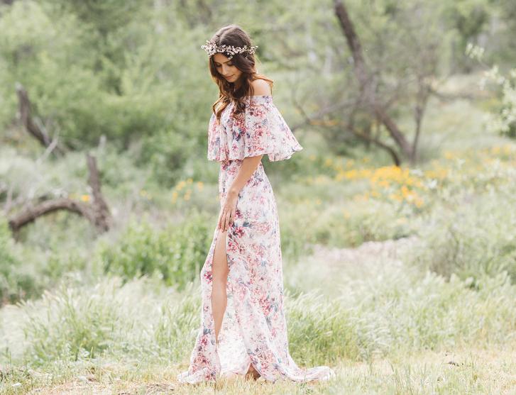 Модные платья с цветочными узорами 2018-2019, фото