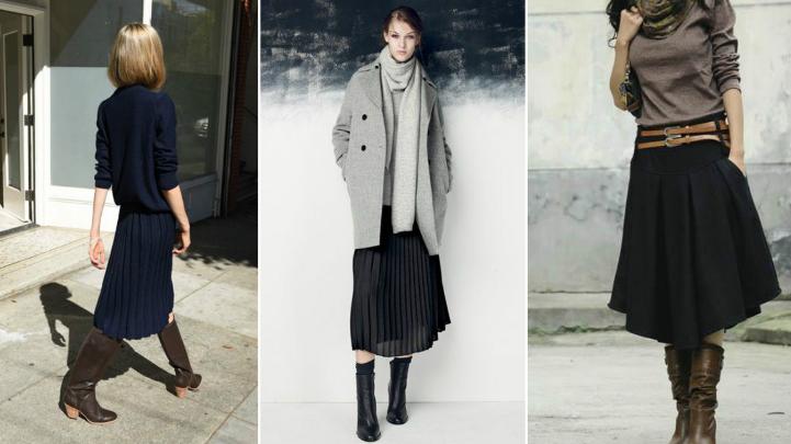 Модные правила зимнего сезона: как сочетать юбки с сапогами