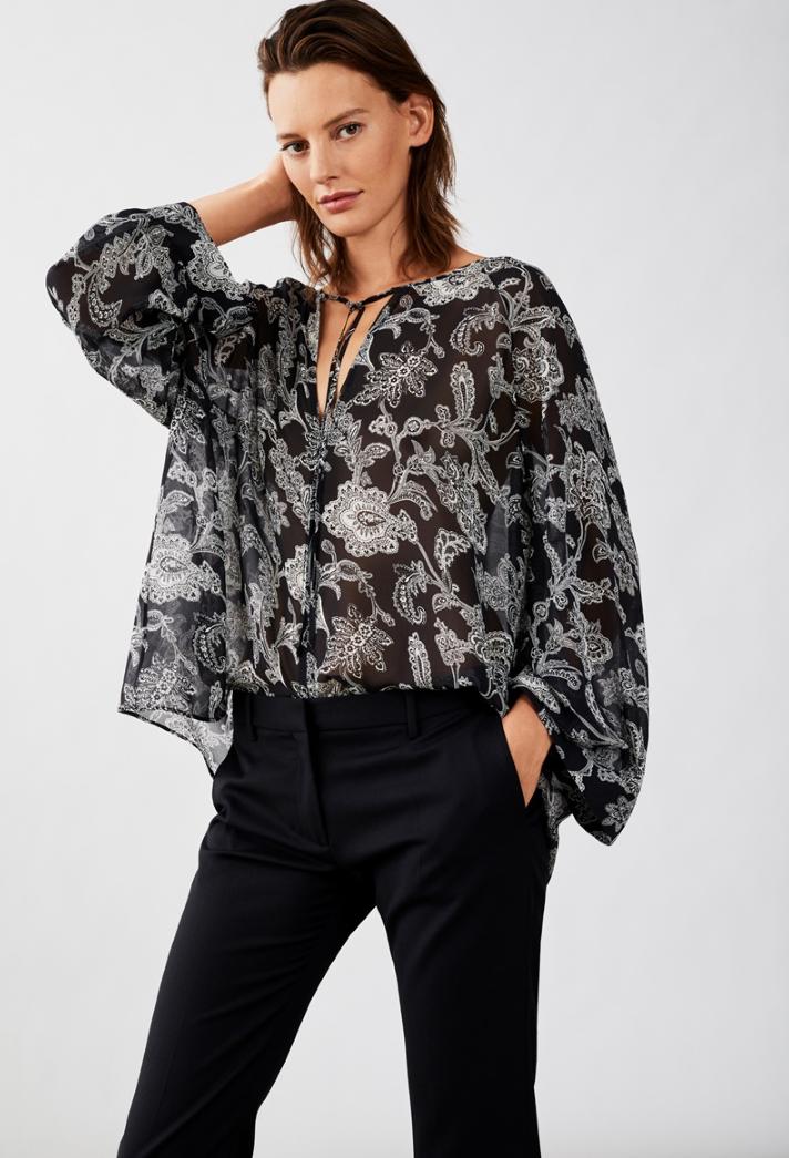 c31923568e8 Модные женские шифоновые блузки в коллекциях сезона весна-лето 2019 ...