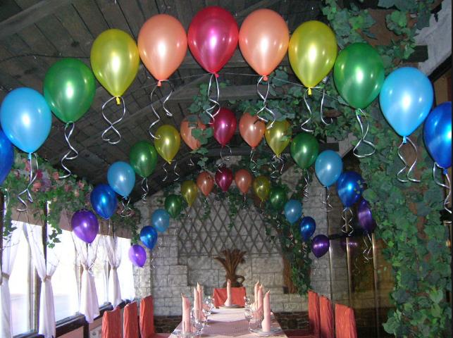 Оформление шарами выпускного бала
