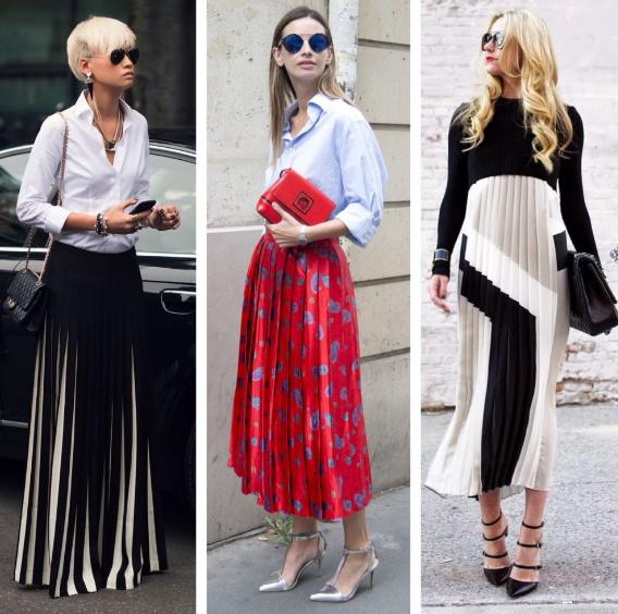 Модные плиссированные платья в коллекциях сезона весна-лето 2019, фото