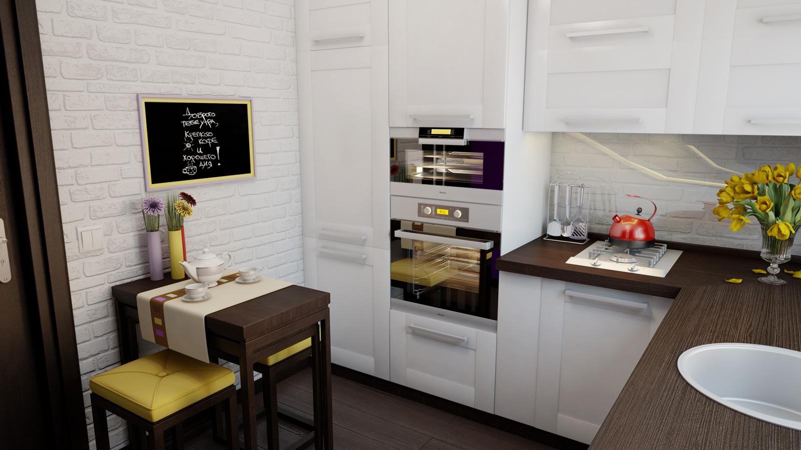 Как стильно и функционально обустроить маленькую кухню?
