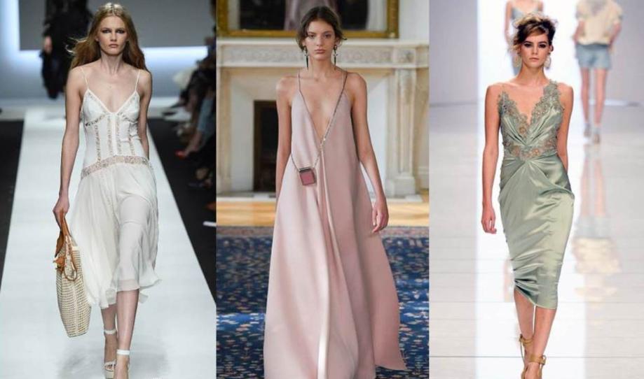 Модные женские платья в бельевом стиле — тренд сезона весна-лето 2019, фото