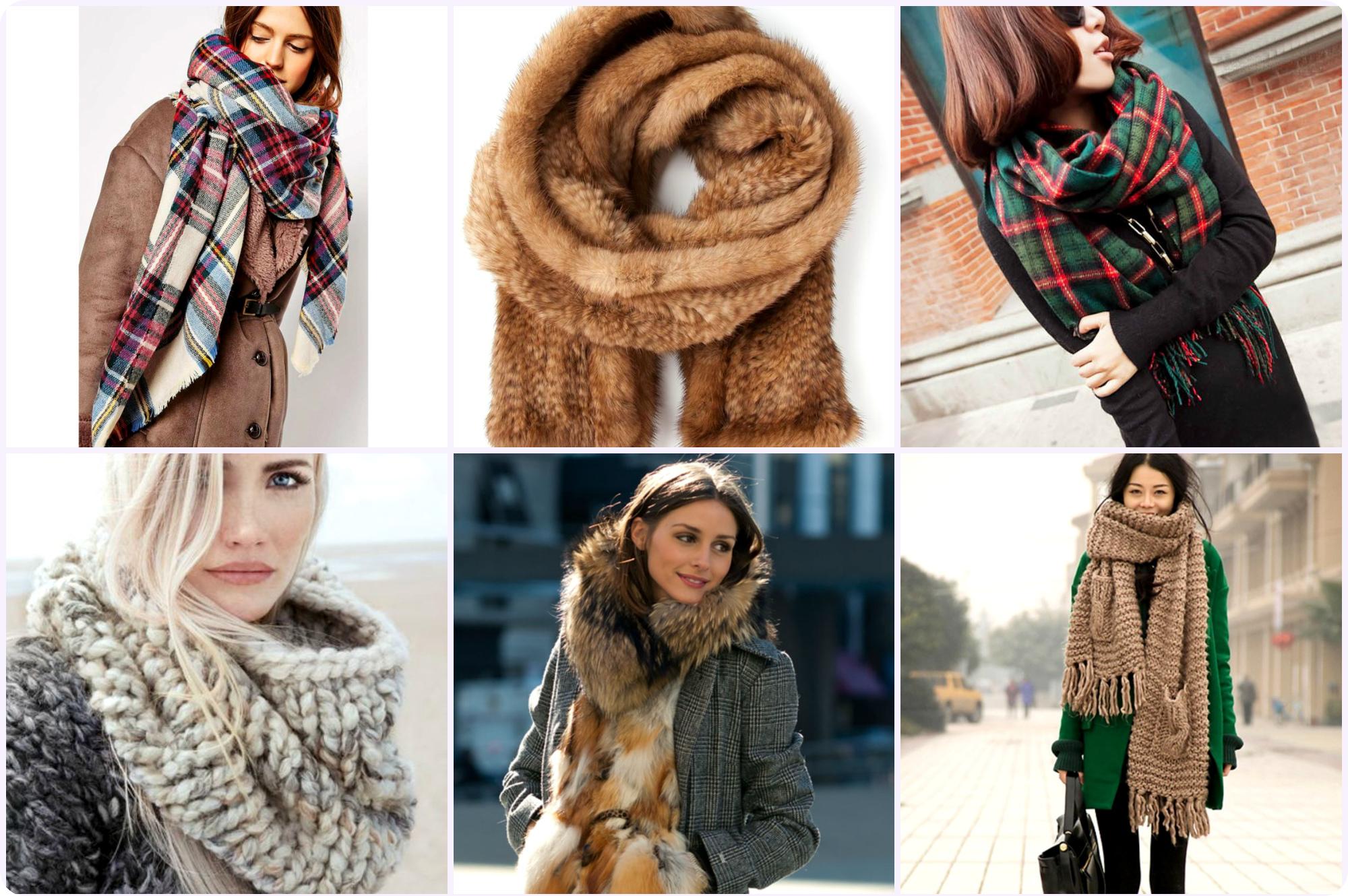 Модные женские шарфы в коллекциях сезона осень-зима 2019-2020