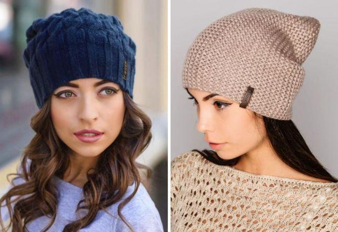 Женские вязаные шапки - купить по низким ценам в Украине