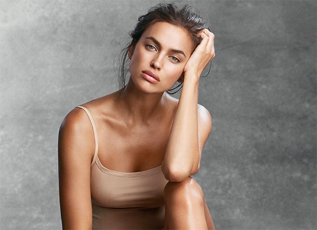 Ирина Шейк продемонстрировала  боди-арт на голом теле