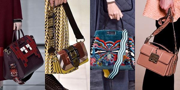 Модные женские сумки на цепочке осень-зима 2019-2020