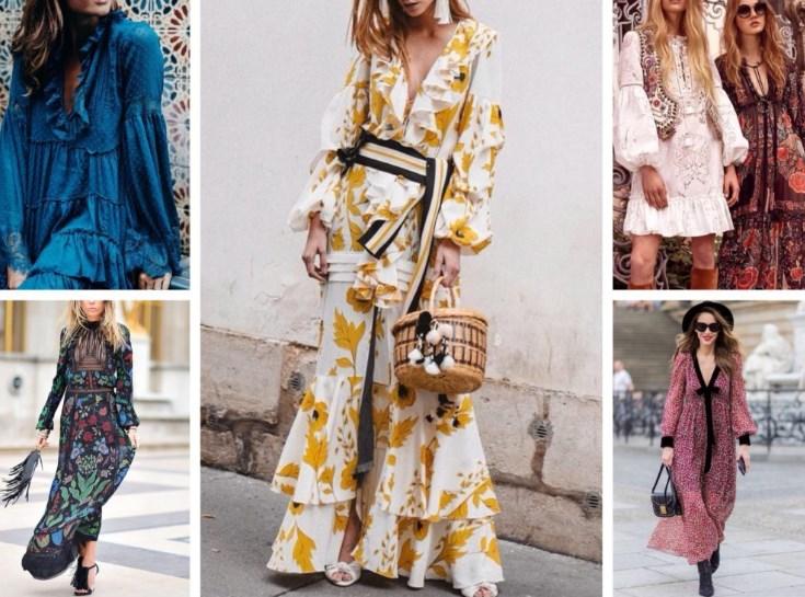 Модное платье в стиле бохо-шик 2019-2020, фото роскошных образов