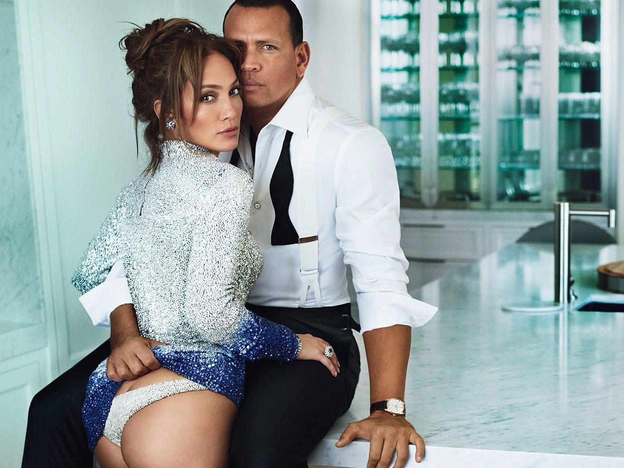 В сеть выложили фото помолвки Дженнифер Лопес и Алекса Родригеса