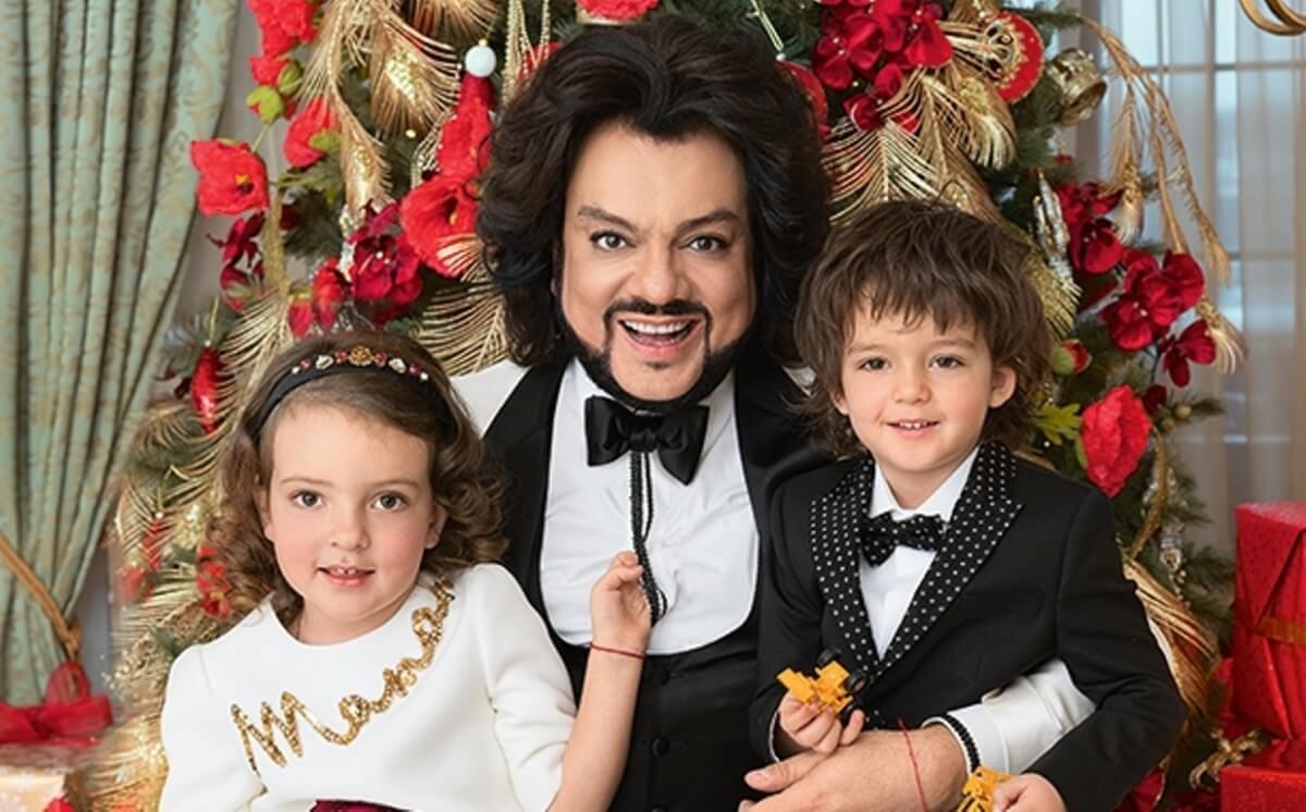 Филипп Киркоров получил трогательное поздравление с днем рождения от своих детей