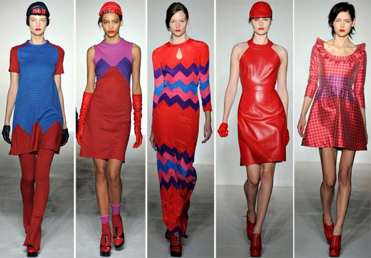 Модная женская одежда красного цвета 2019-2020, фото