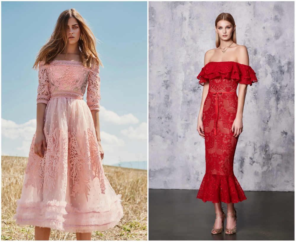 Модные платья из кружева в дизайнерских коллекциях сезона весна-лето 2020, фото