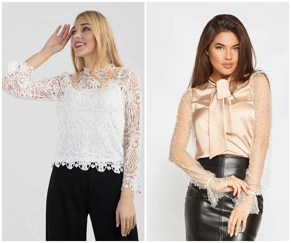 Модные женские блузки из гипюра на 2019 год