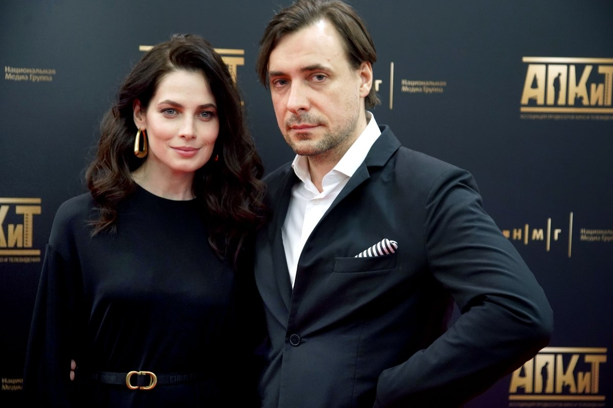 Юлия Снигирь и Евгений Цыганов на премьере фильма