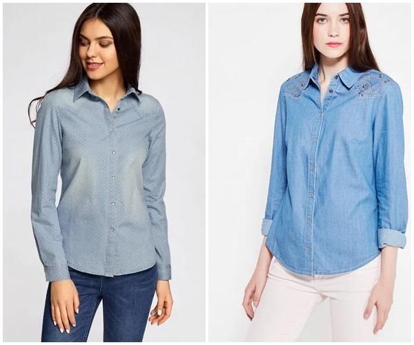 Модные женские джинсовые рубашки 2019