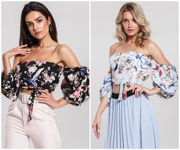Модные женские топы с голыми плечами на лето 2019