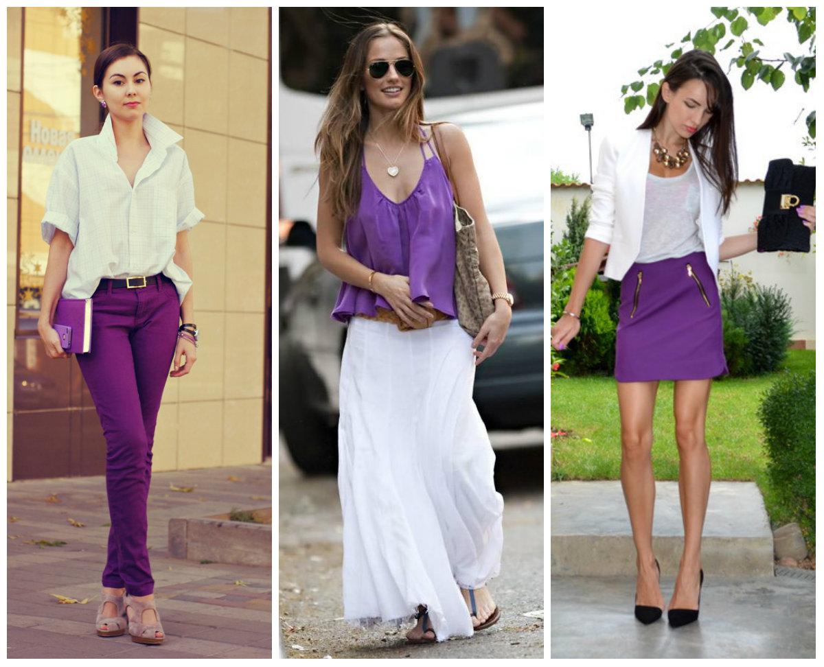 С чем носить фиолетовый цвет, фото стильных образов