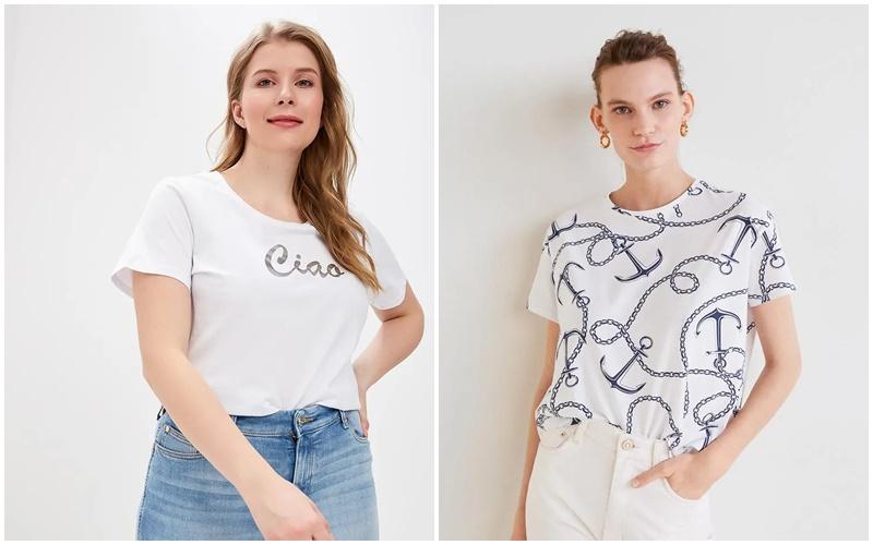 Модные футболки для полных в сезоне весна-лето 2019, фото