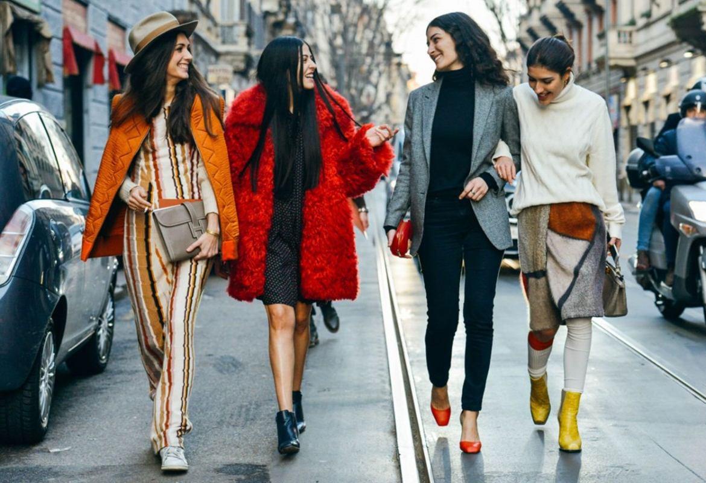 Женская уличная мода сезона осень-зима 2019-2020 фото