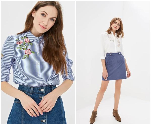 Модные блузки с вышивкой 2019