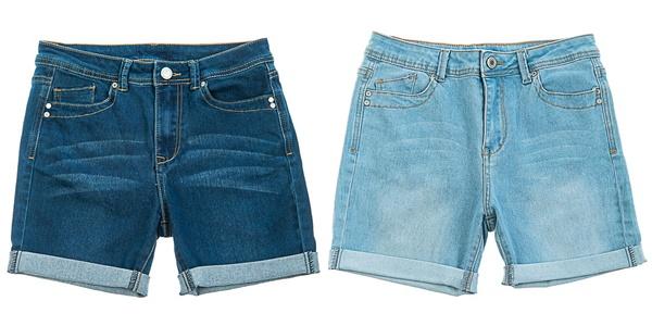 Модные женские джинсовые шорты с отворотами 2019
