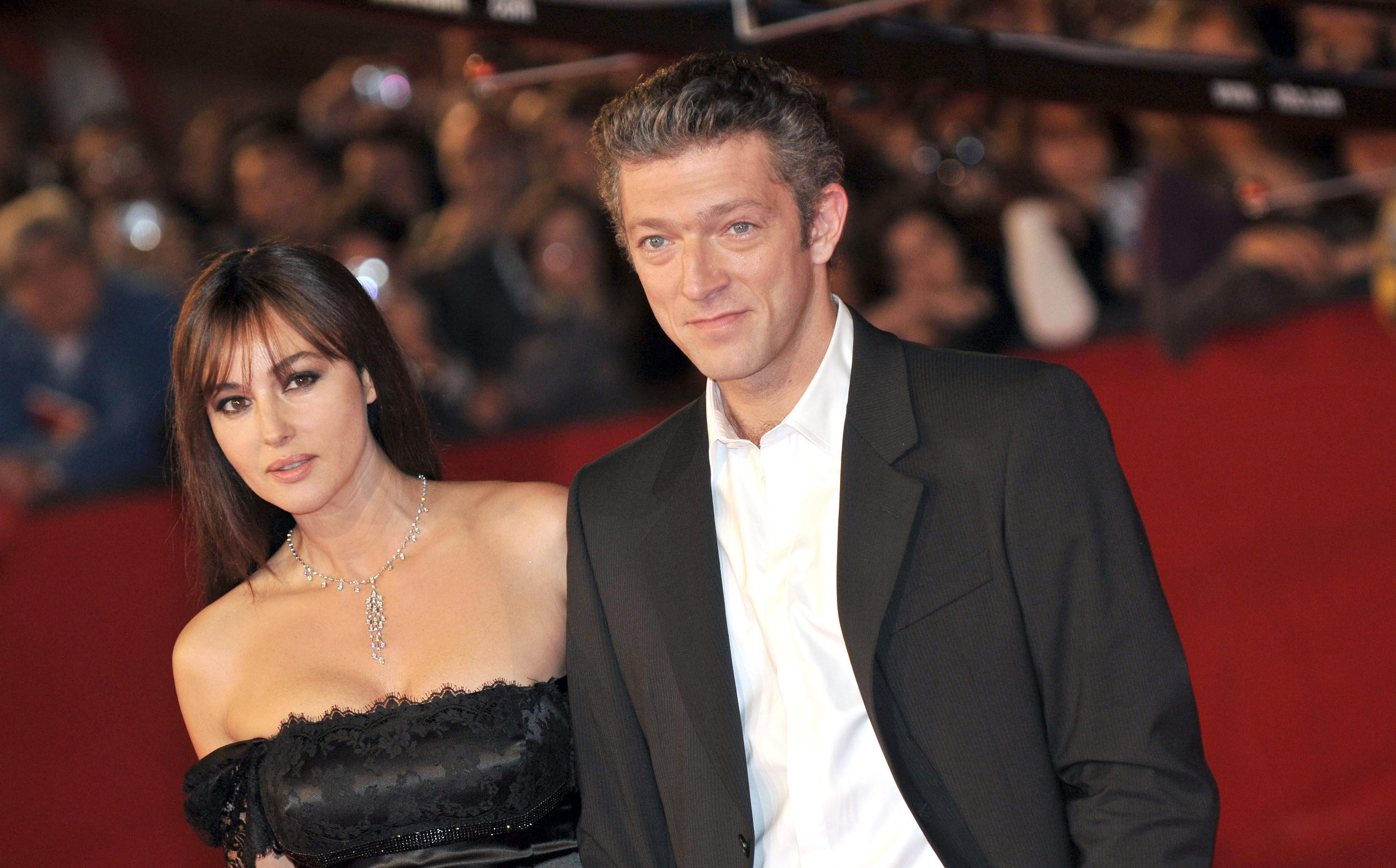 Моника Беллуччи и Венсан Кассель встретились на красной дорожке Венецианского кинофестиваля