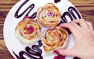 Русский синнабон: рецепт булочек-роз из яблок