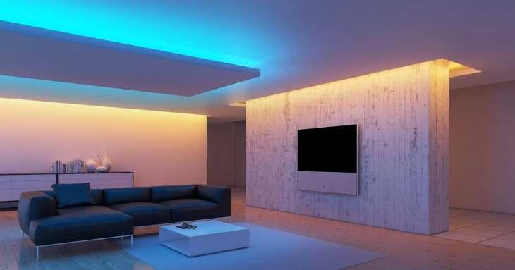 Монтаж светодиодной подсветки потолка