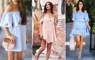 Модные платья с голыми плечами в сезоне весна-лето 2020