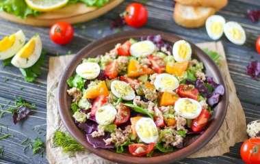 5 быстрых салатов с рисом
