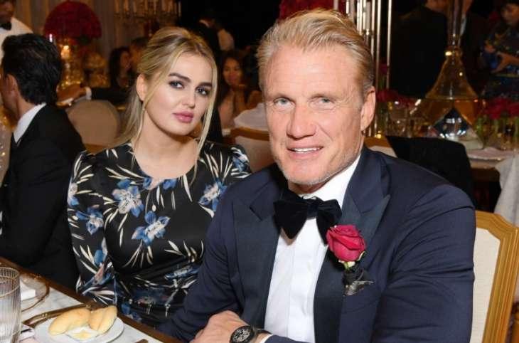 62-летний Дольф Лундгрен с обвисшим животом выглядит отцом своей молодой невесты