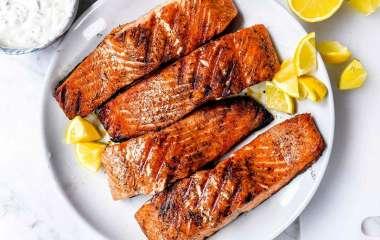 Как вкусно приготовить лосось на мангале