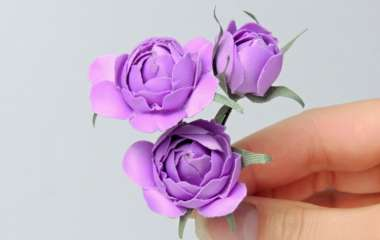 Изготовление искусственных цветов — идея с нуля