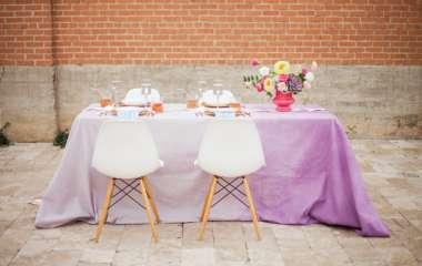 Сервировка стола на свадебном банкете