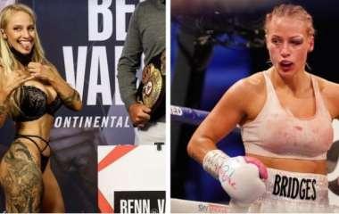 Боксерша с пятым размером груди показала, как выглядит после боя (видео)