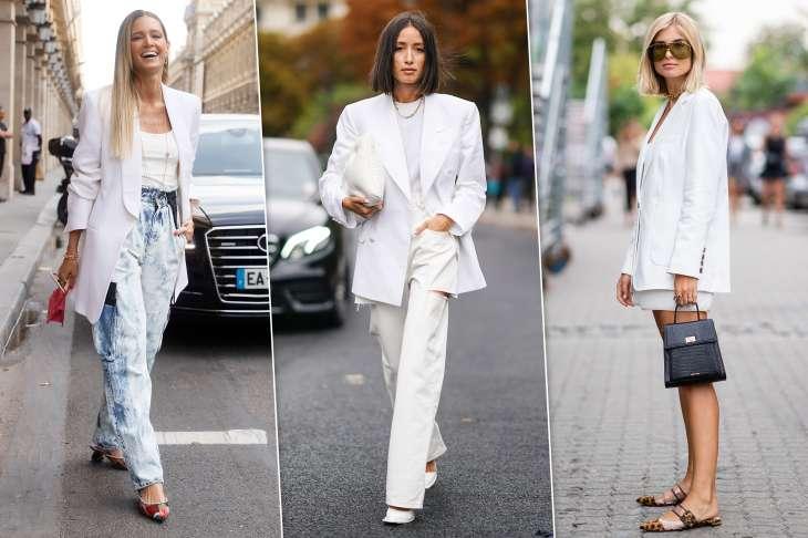 Главный тренд осени: с чем носить белый жакет, чтобы выглядеть стильно и дорого