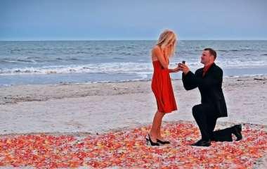 Романтическое предложение руки и сердца