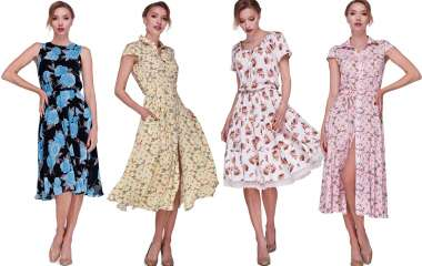 Модные женские платья в цветочек весна-лето 2020, фото