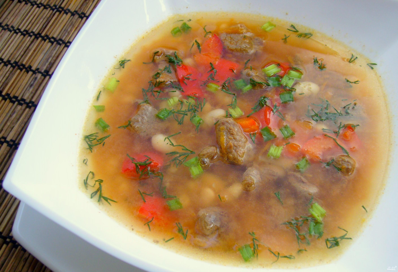 Фасолевый суп из баранины