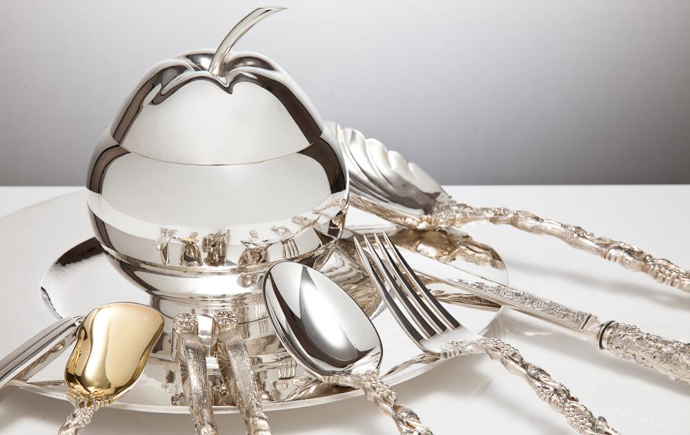как выбрать столовую посуду из серебра