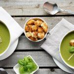 Гороховый суп-пюре из шампиньонов