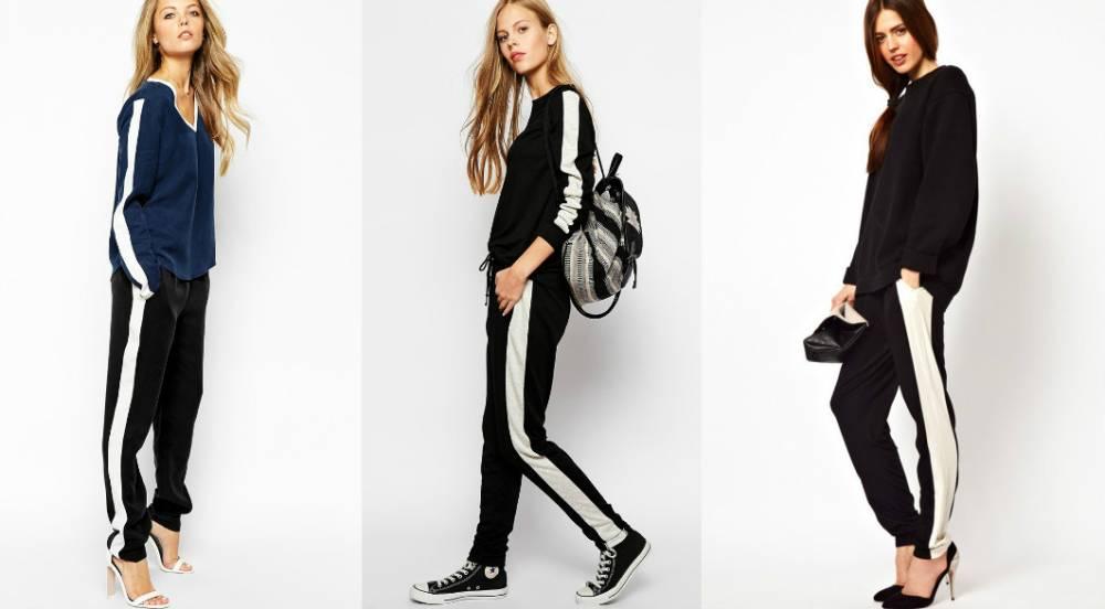 Женские брюки с лампасами. Спортивный тренд в деловом стиле