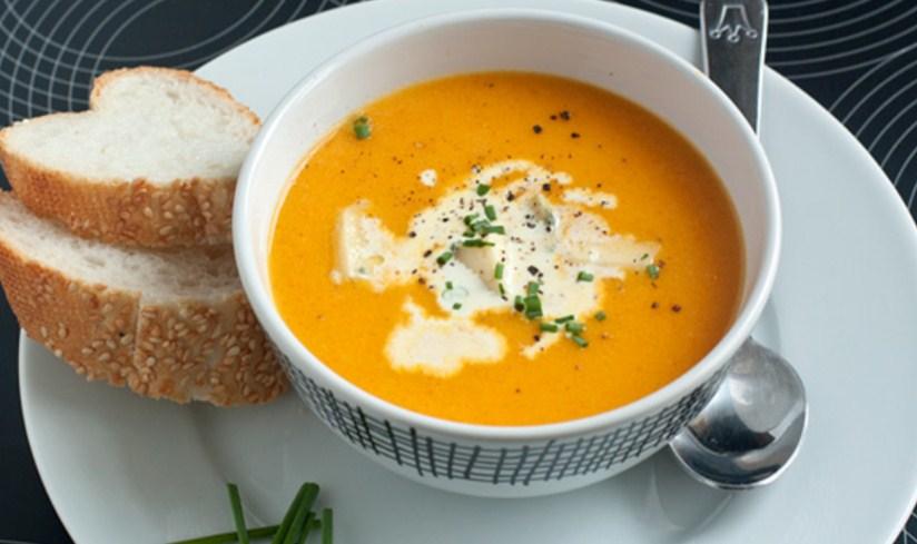 Томатный суп-пюре с перловкой