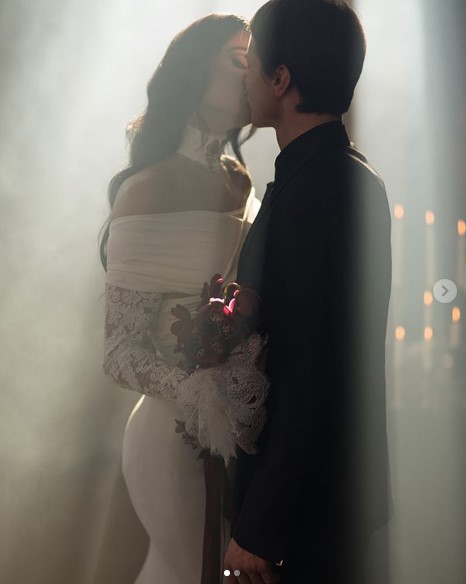 Свадебное фото Алены Водонаевой и Алексея Косинуса