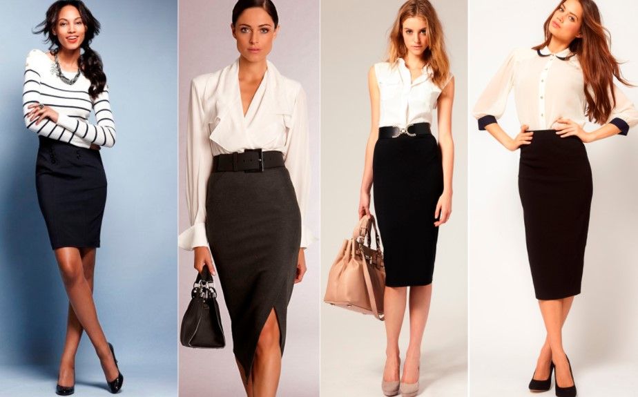 Знаменитая комбинация: юбка-карандаш и высокие каблуки