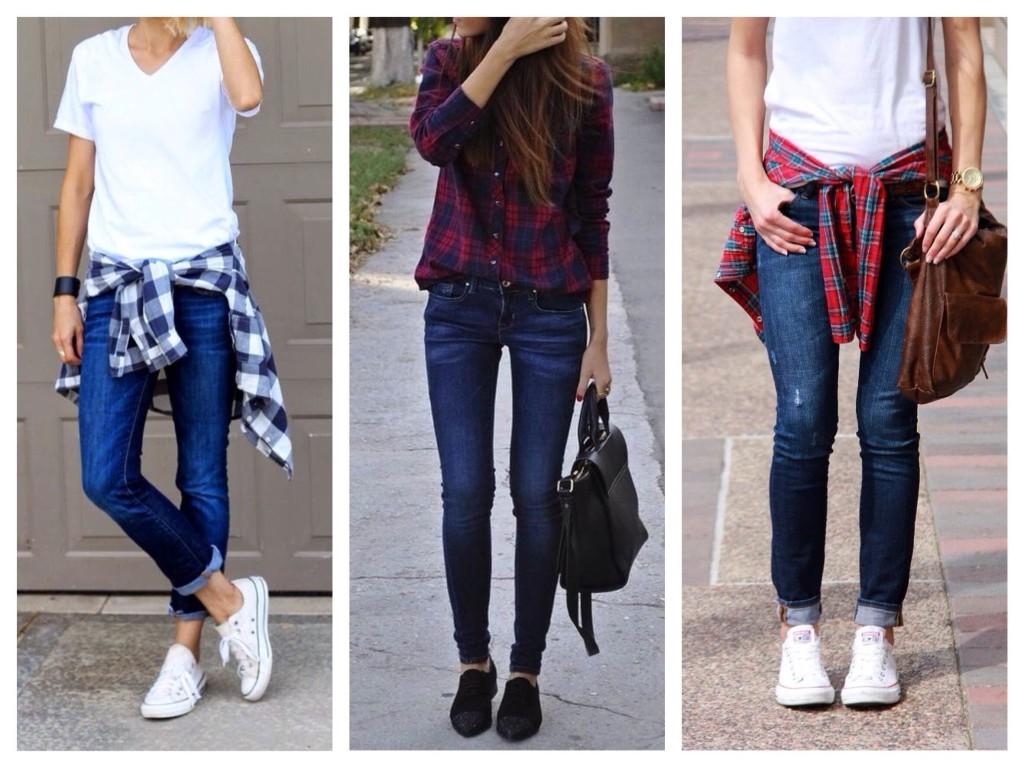 Голубые джинсы: с чем носить, с высокой талией, образы