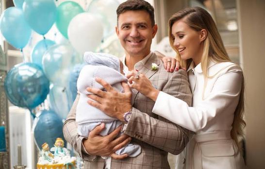 Младший сын Николая Тищенко отметил «тропический годик»